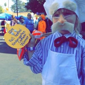 Fall Festival costume kindergarten winner