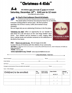 christmas for kids saturday december 10th st paul s first lutheran